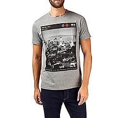 Burton - Grey tokyo print t-shirt