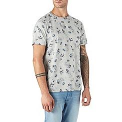 Burton - Grey floral print t-shirt