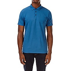 Burton - Cobalt blue stretch polo shirt