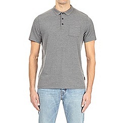 Burton - Charcoal stretch polo shirt