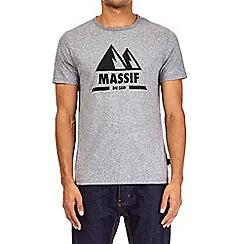 Burton - Grey massif front print t-shirt
