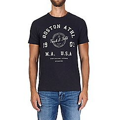 Burton - Navy Boston print t-shirt