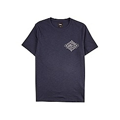 Burton - Navy explorer chest print t-shirt