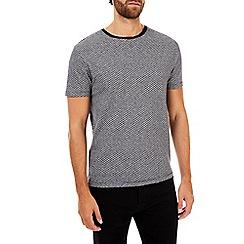 Burton - Navy textured t-shirt