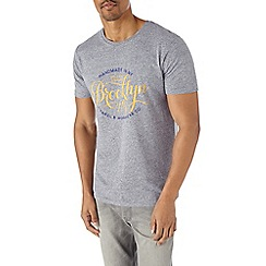 Burton - Grey brooklyn print t-shirt