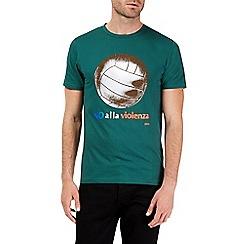 Burton - Green burro football t-shirt