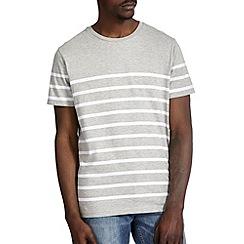 Burton - Grey breton stripe t-shirt