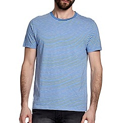 Burton - Blue & white stripe t-shirt
