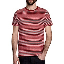 Burton - Red & white stripe t-shirt
