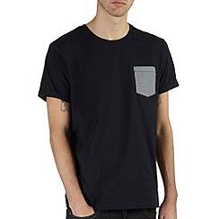 Burton - Navy t-shirt with contrast pocket