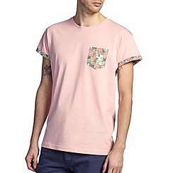 Burton - Pink floral pocket t-shirt