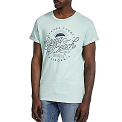 Burton - Mint green laguna beach printed t-shirt