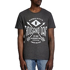 Burton - Grey thousand oaks printed t-shirt