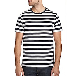 Burton - Navy & white stripe t-shirt