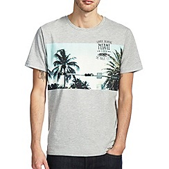 Burton - Grey miami chest panel t-shirt