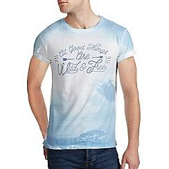 Burton - Blue wild & free printed t-shirt