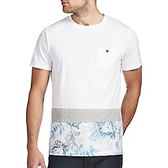 Burton - Floral cut and sew hem t-shirt