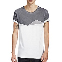 Burton - White geo yoke printed t-shirt