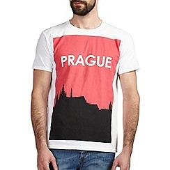 Burton - Red prague printed t-shirt