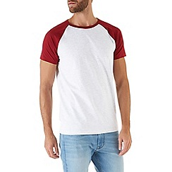 Burton - Red and grey raglan t-shirt