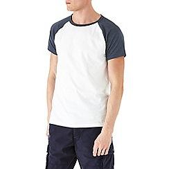 Burton - White & navy raglan t-shirt