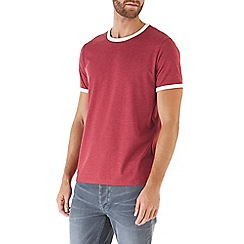 Burton - Red and ecru ringer t-shirt
