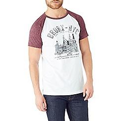 Burton - Red raglan print t-shirt