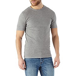 Burton - Grey marl ribbed t-shirt
