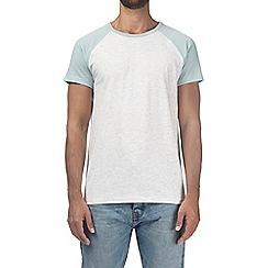 Burton - Laguna green and ecru raglan t-shirt