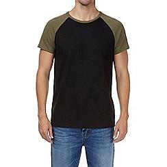 Burton - Black and khaki raglan sleeve t-shirt