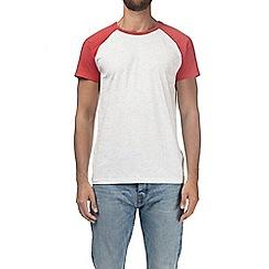 Burton - Red and ecru raglan t-shirt