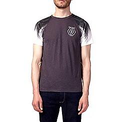 Burton - Grey and green printed raglan t-shirt