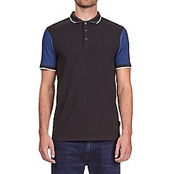 Burton - Cobalt and black stretch polo shirt