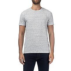 Burton - Grey and ecru stripe t-shirt