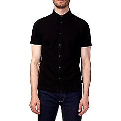 Burton - Black short sleeve pique shirt