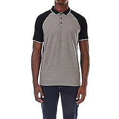 Burton - Grey raglan stretch polo shirt
