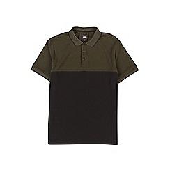 Burton - Khaki cut and sew stretch polo shirt