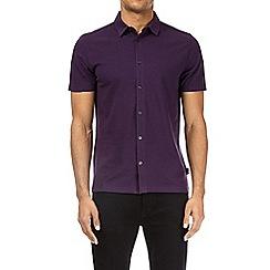 Burton - Opium purple short sleeve pique shirt