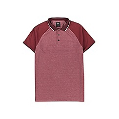 Burton - Red raglan stretch sleeve polo shirt