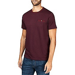 Burton - Burgundy jacquard t-shirt