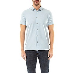 Burton - Blue fog short sleeve two tone shirt