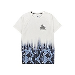 Burton - White and blue floral fade t-shirt