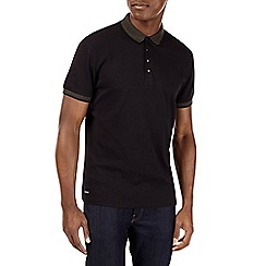Burton - Black popper polo shirt