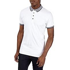 Burton - White popper polo shirt