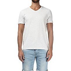 Burton - Ecru marl V-neck t-shirt