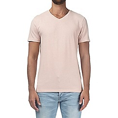 Burton - Pastel pink V-neck t-shirt