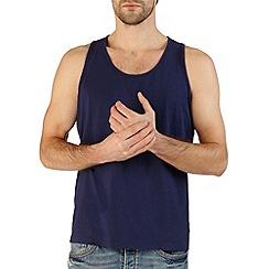 Burton - Navy blue jersey vest