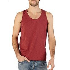Burton - Red marl jersey vest