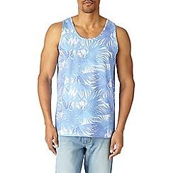 Burton - Green palm leaf print vest