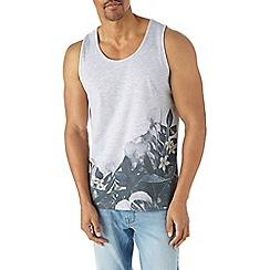 Burton - Grey floral print vest